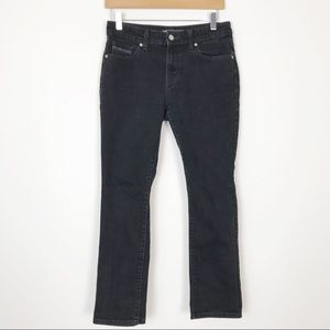 LEVI'S Washed Black Mid Rise Skinny Jeans Size 6